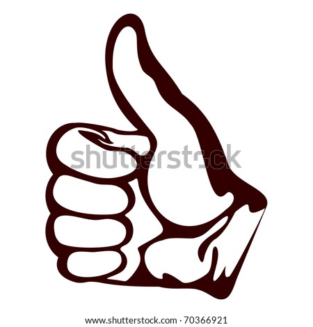 Isolated object on a white background.A hand shows a gesture all be well.EPS version is available as ID 69365473. - stock photo