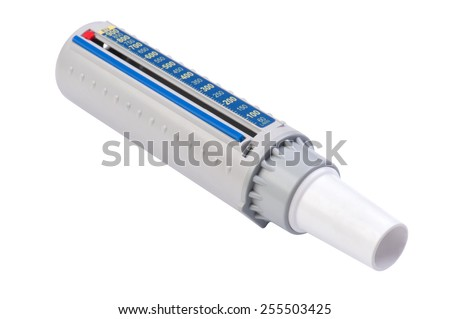 isolated object on white - Flow Meter - stock photo