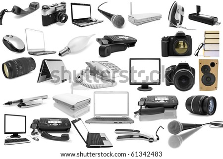 isolated objects on a white background - stock photo