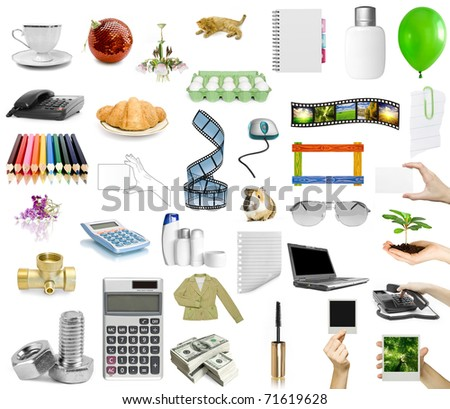 isolated objects on the white background - stock photo