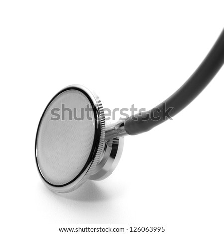 Isolated of stethoscope against the white background