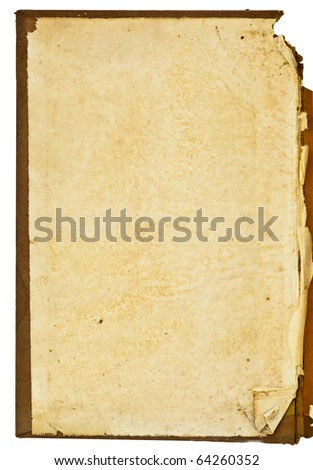 Isolated old antique vintage book