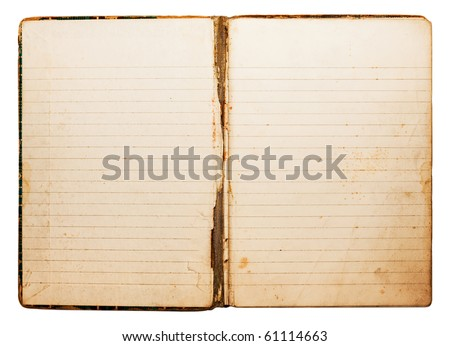 Isolated old antique vintage notebook - stock photo