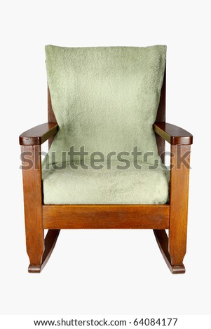 Isolated old-fashioned Rocking Chair - stock photo