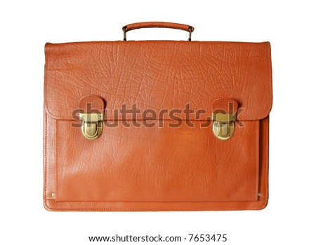 isolated old style business  briefcase