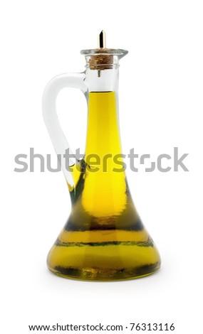 Isolated Olive Oil Bottle - stock photo
