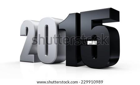 Isolated 2015 on white background - stock photo