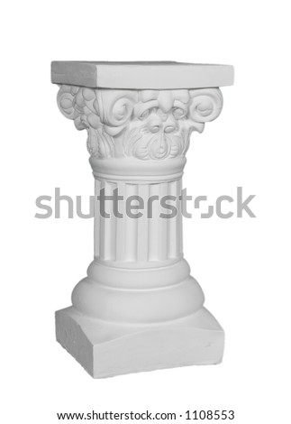 Isolated on White Plaster Pillar Photo Prop