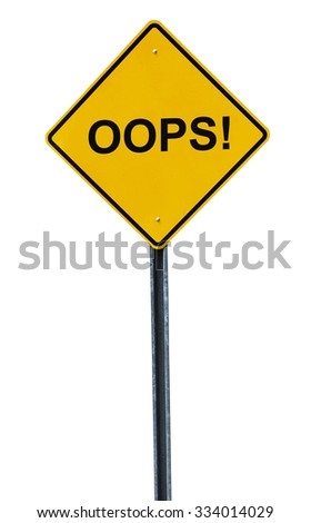 isolated oops sign - stock photo