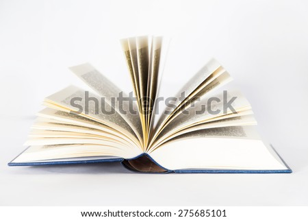 Isolated opened book - stock photo