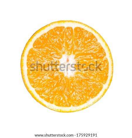 Isolated orange - stock photo