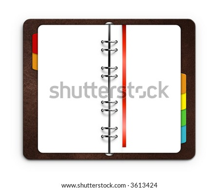 isolated organizer - stock photo