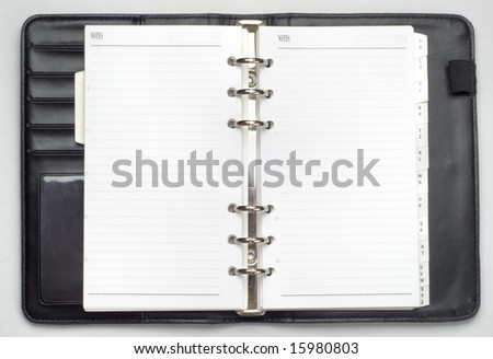 isolated organizer book - stock photo
