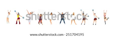 Isolated over White Hurray to Us  - stock photo