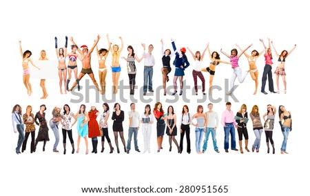 Isolated over White Together we Rule!  - stock photo