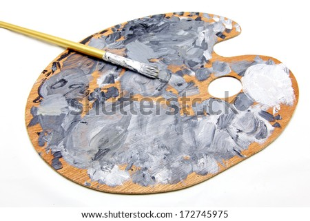 Isolated painter's palette - stock photo