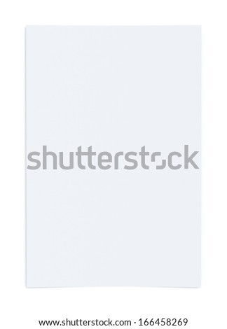 Isolated Paper - stock photo