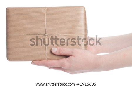 Isolated Parcel - stock photo