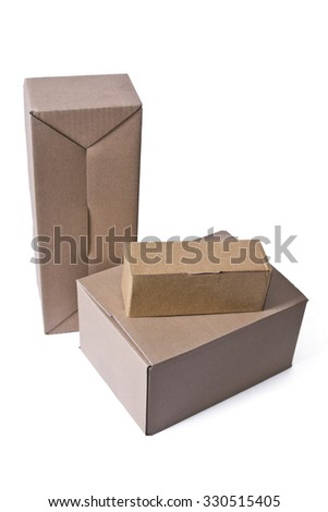 isolated parcel boxes