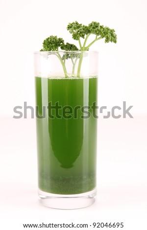 isolated parsley juice - stock photo