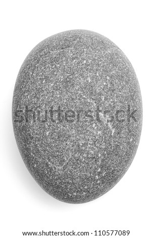 Isolated Pebble Stone (clipped path) - stock photo