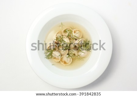 Isolated pelmeni on white background