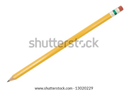 Isolated Pencil with path - stock photo
