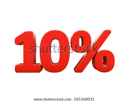 Isolated 10 Percent Discount 3d Sign on White Background, Special Offer 10% Discount Tag, Sale Up to 10 Percent Off, Sale Symbol, Special Offer Label, Sticker, Tag, Badge, Emblem, Web Icon