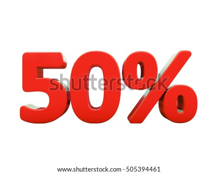 Isolated 50 Percent Discount 3d Sign on White Background, Special Offer 50% Discount Tag, Sale Up to 50 Percent Off, Sale Symbol, Special Offer Label, Sticker, Tag, Badge, Emblem, Web Icon