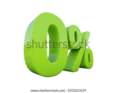 Isolated 0% Percent on White Background, Special Offer 0% Tag, Zero Percent Interest or Other Financial Percentages, 0% Interest, 0 Percent Green Tag, Sticker, Label, Banner, Badge, Emblem, Web Icon