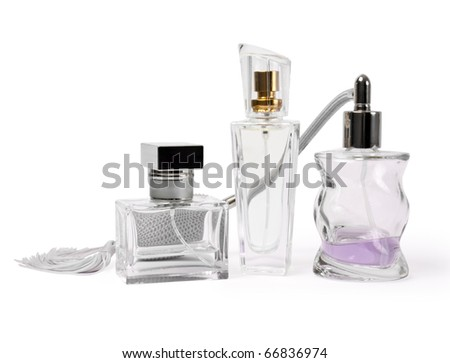 isolated perfume on a white background