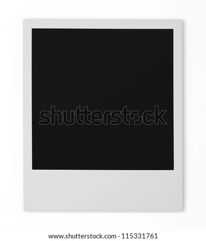 Isolated Photo Frames on White Background - stock photo