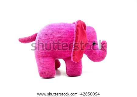 Isolated photo of a sweet and soft pink elephant, a perfect gift for home or decoration - stock photo
