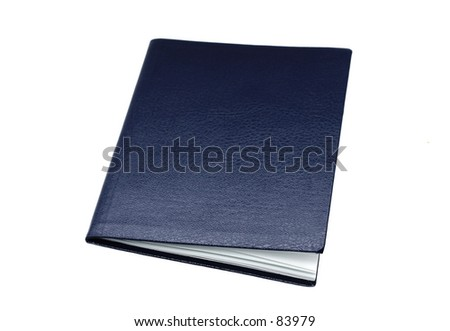 Isolated photo of blank booklet/document. - stock photo