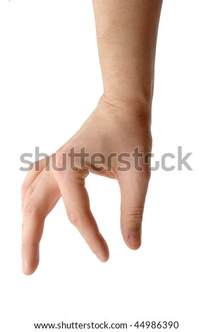 isolated photo of hand