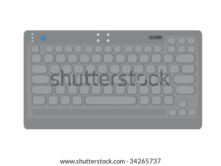 Isolated picture of compact keyboard.