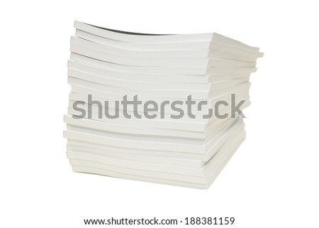 isolated pile of books in white background