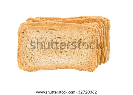 isolated pile of crackers - stock photo