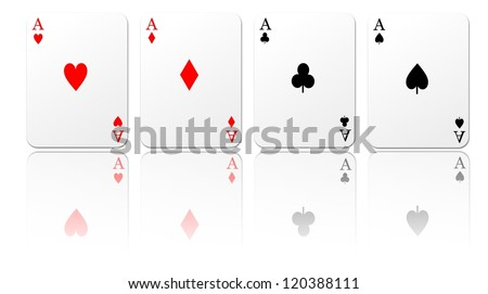 Isolated playing cards. - stock photo