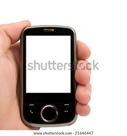 Isolated pocket PC - stock photo