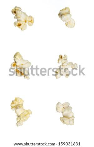 Isolated popcorn - stock photo