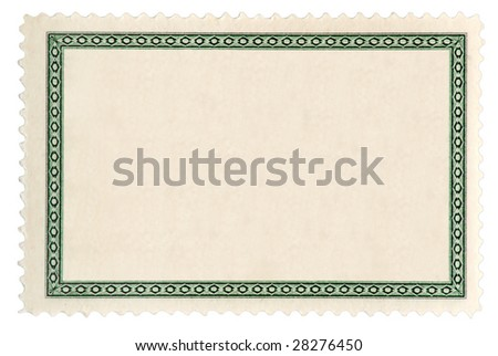 Isolated postage stamp blanked for your text - stock photo