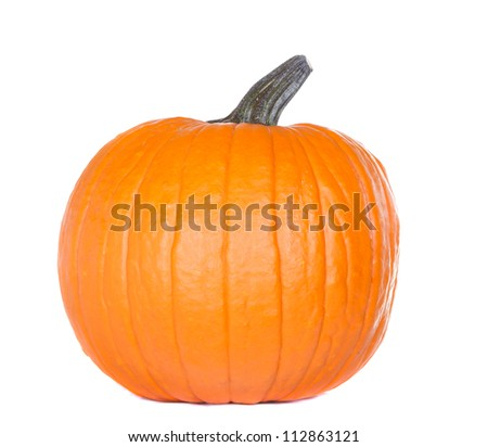 Isolated pumpkin on white - stock photo