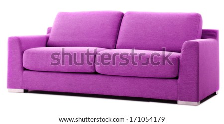 isolated purple couch  - stock photo