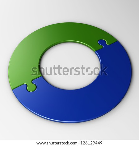 isolated puzzle pieces to place concepts with clipping path - stock photo