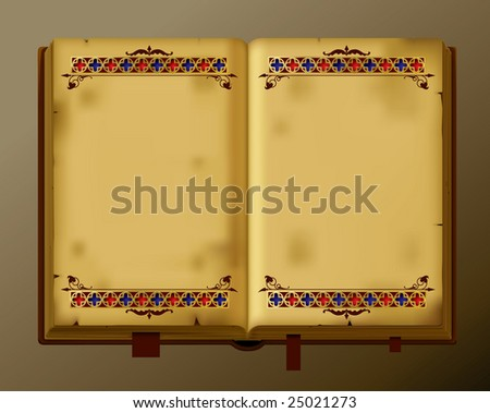 Isolated raster version of vector antique book - stock photo