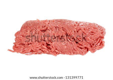 isolated raw ground beef