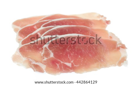 isolated raw meat