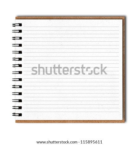 isolated recycle paper book on white. - stock photo