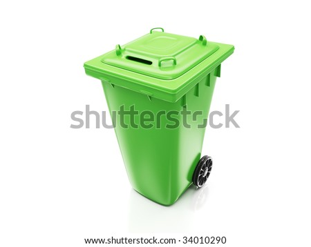 Isolated Recycling Container